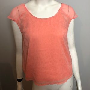 Mossimo | Women's Pink & Gold Top Size M